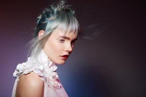 icono Collection 2018 Trends Hairfashion Academy Look Pastel Mint Choppy Fringe Braids root shadow
