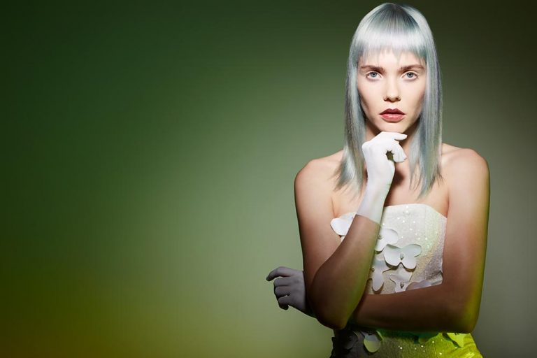 icono Collection 2018 Trends Hairfashion Academy Look pastel mint blond Choppy Fringe long layers