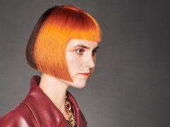 Blunt Bob Bobfrisuren Kupfer Two Tone Haarfarbe